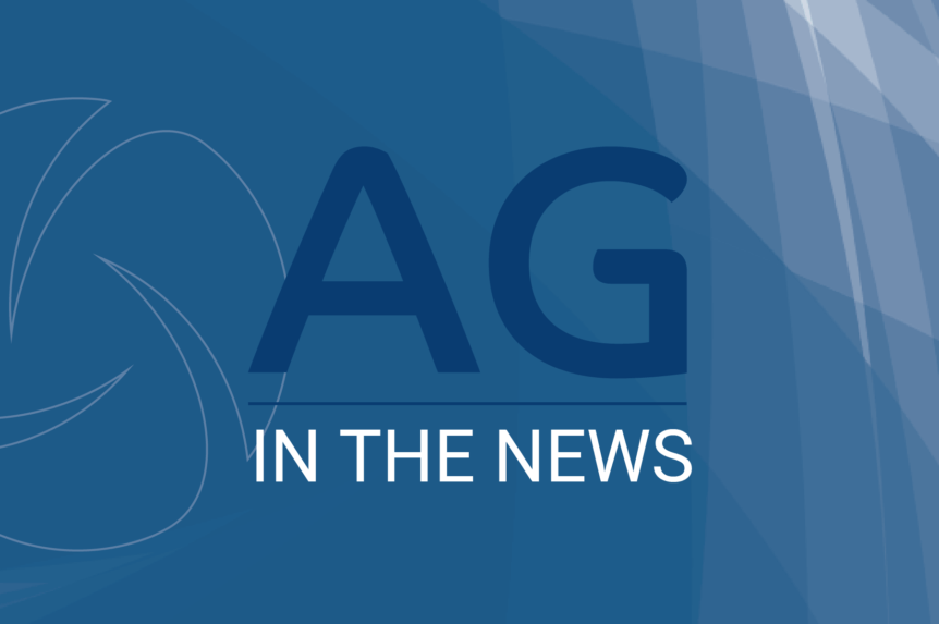 AG in the news- Generic blue