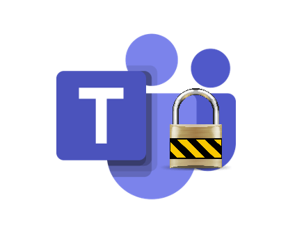 Remote work privacy: MS Teams private channel icon