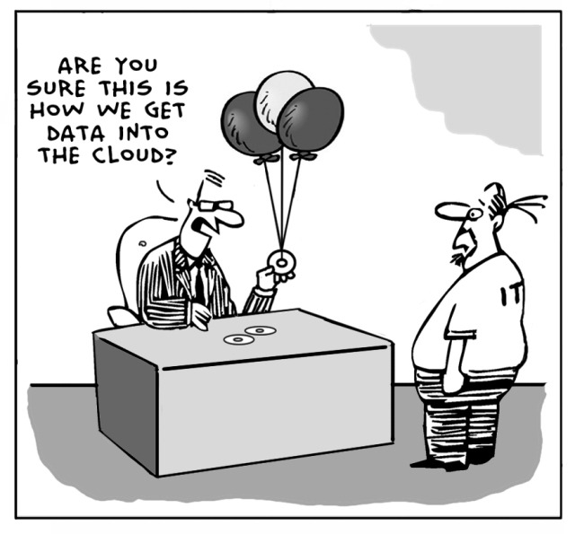 Getting data to the cloud cartoon